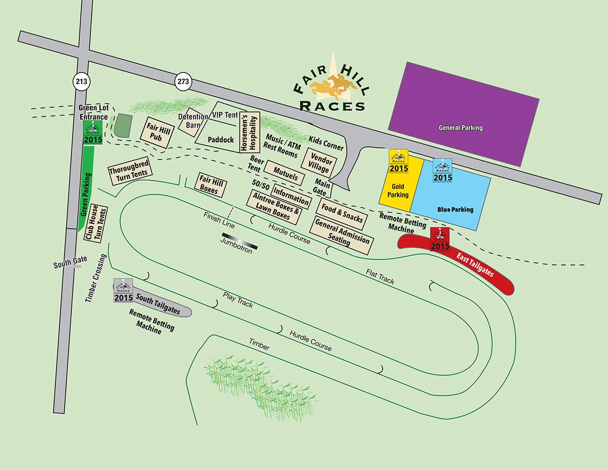 Fair Hill Races Map