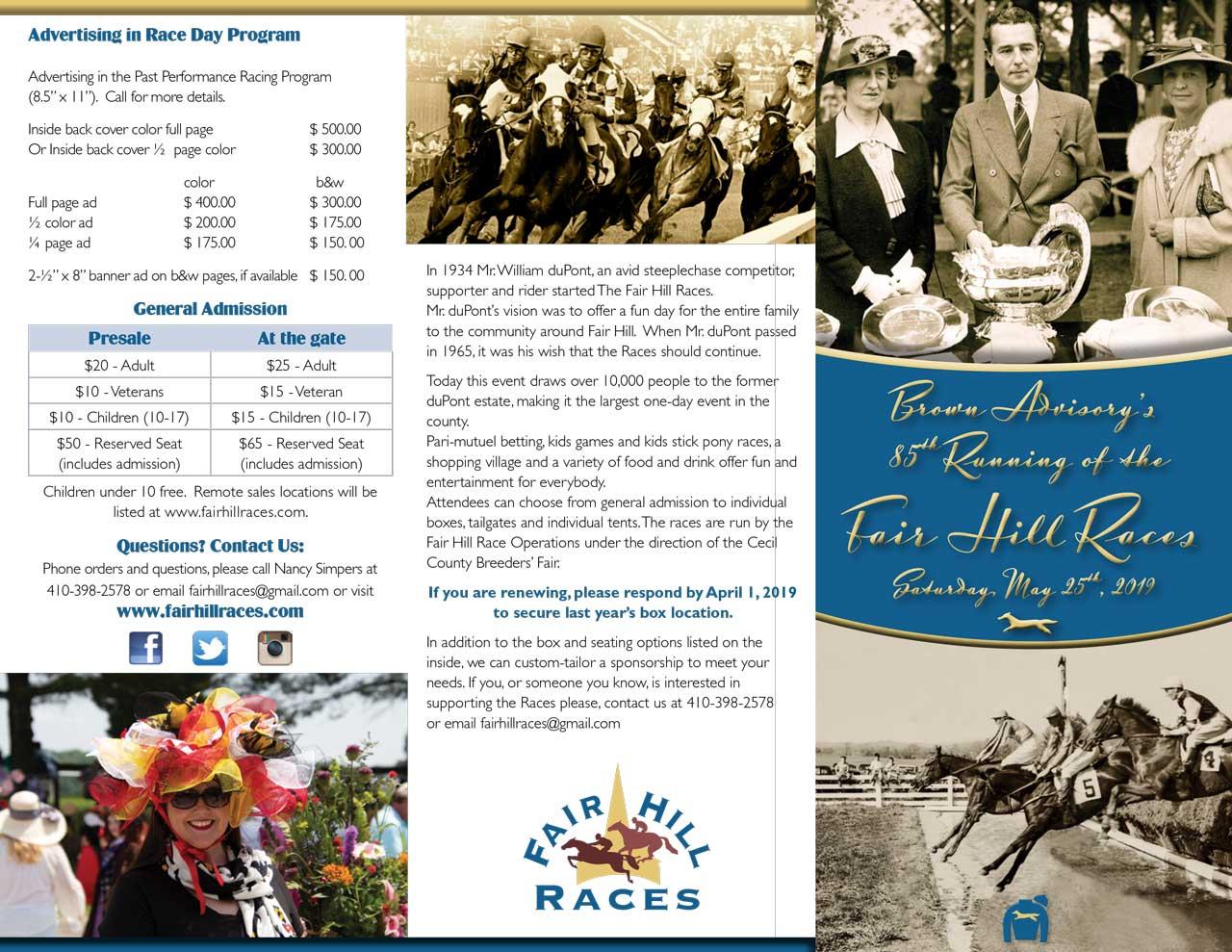 Fair Hill Races Brochure
