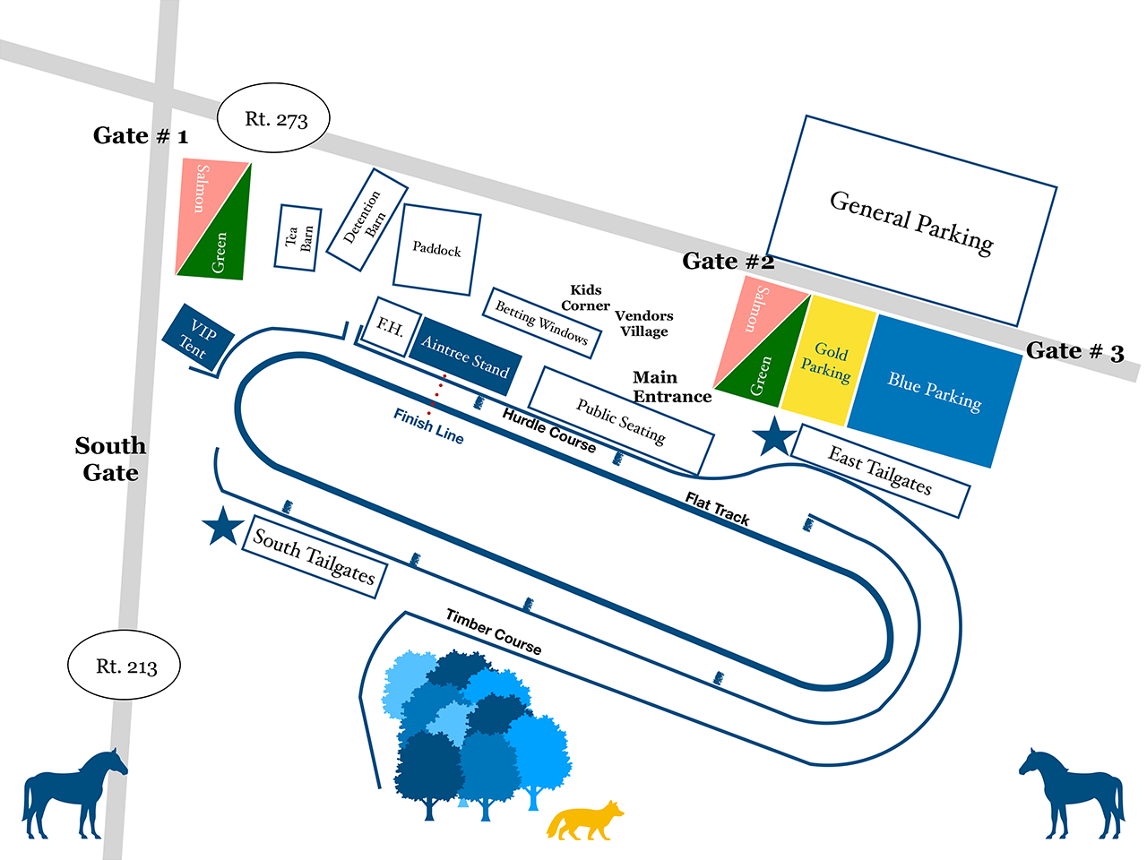 Fair Hill Races Map